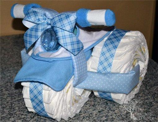 Подарки из памперсов и как их делать